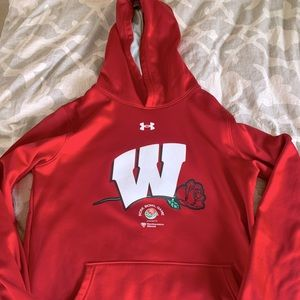 Youth Under Armour Wisconsin Badgers Hoodie